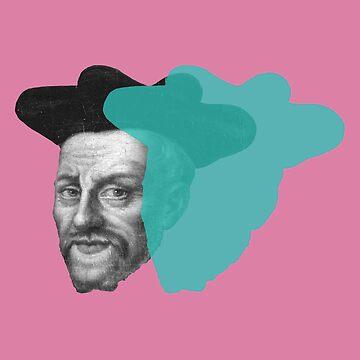Francois Rabelais - pink blue pop by savantdesigns