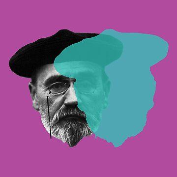 Emile Zola - blue purple pop by savantdesigns