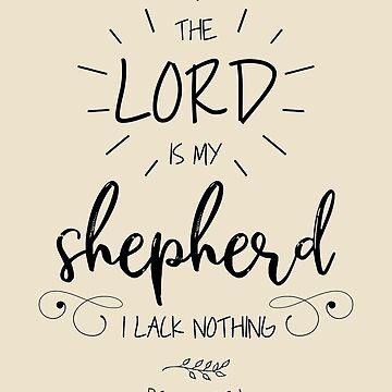 The Lord Is My Shepherd Catholic Gift by oceanwaves