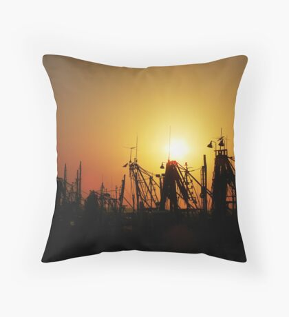 Golden Trawlers Throw Pillow