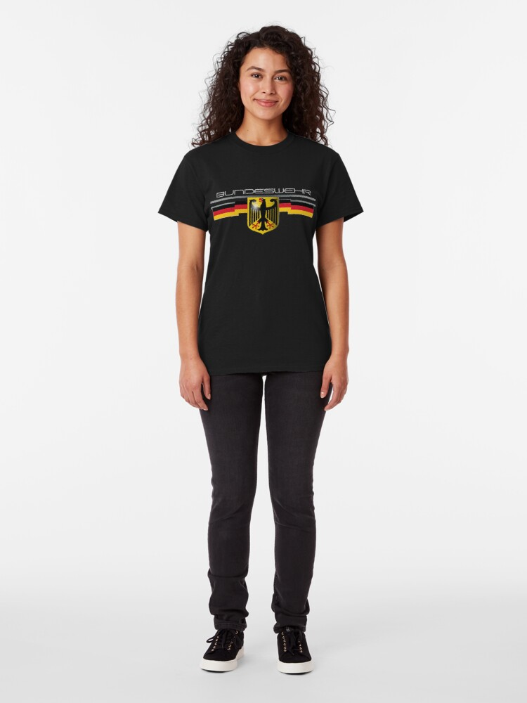 Alternate view of Bundeswehr German Eagle and Flag Classic T-Shirt