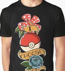 I choose you - Pokeball Rockabilly Tattoo Graphic T-Shirt