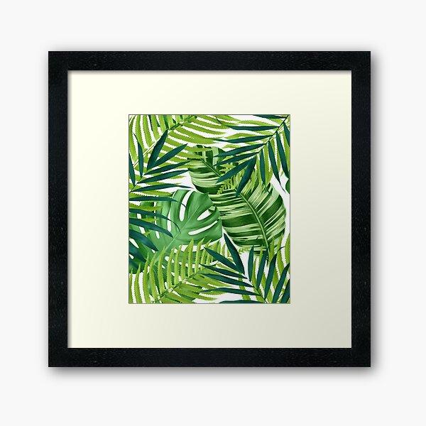 Tropical leaves III Framed Art Print