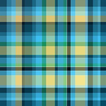 Blue and yellow tartan or plaid by nscphotography