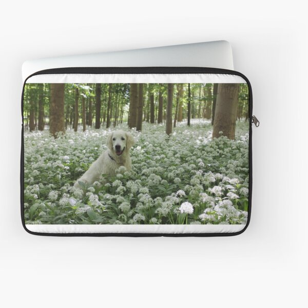 Ditte in a carpet of ramsons Laptop Sleeve