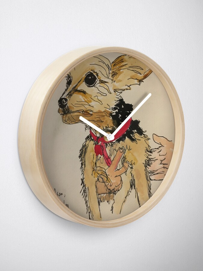 Alternate view of Hudson, Peter's dog Clock