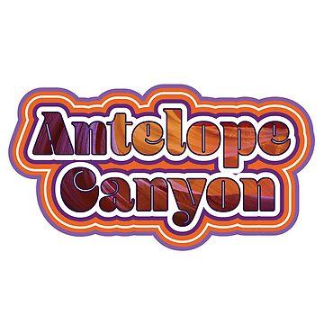 Antelope Canyon, Arizona Retro Traveler by crickmonster