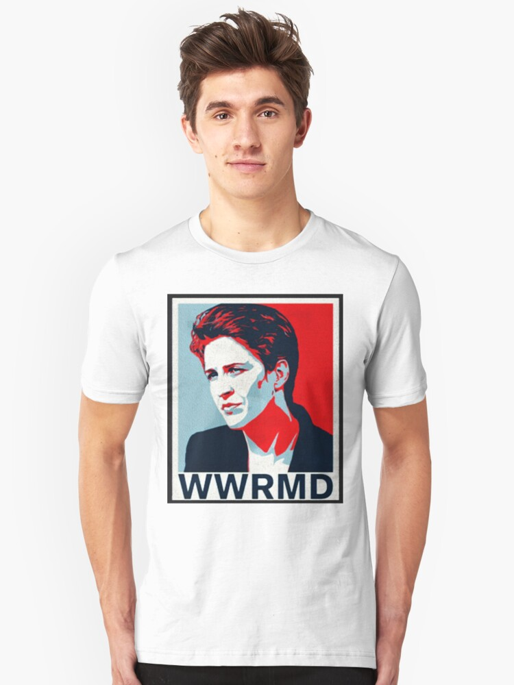 WWRMD? (What would Rachel Maddow Do) Unisex T-Shirt Front