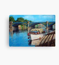 Nottingham reflections - Trent Bridge II Canvas Print