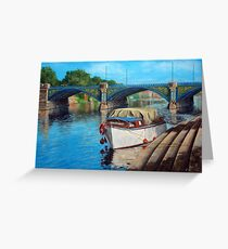 Nottingham reflections - Trent Bridge II Greeting Card