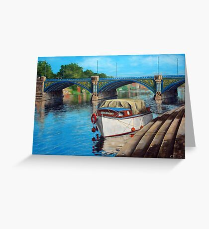 Nottingham reflections - Trent Bridge II Greeting Card