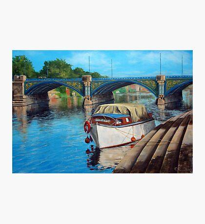 Nottingham reflections - Trent Bridge II Photographic Print