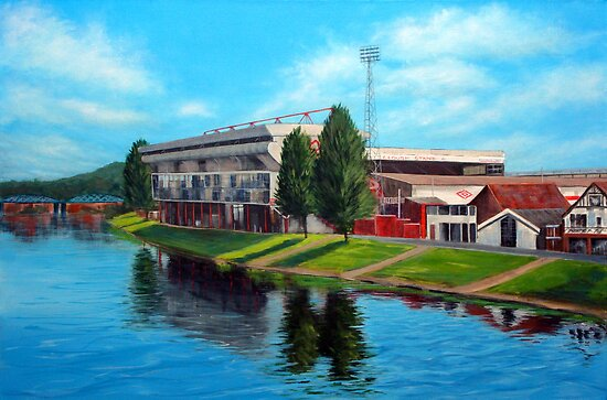 Nottingham reflections - Trent Bridge IIII by Carole Russell