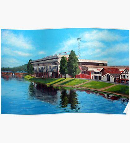 Nottingham reflections - Trent Bridge IIII Poster