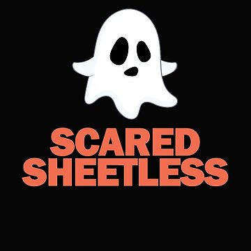 Funny Halloween Ghost Ghosts Scared Sheetless Puns  by Essetino