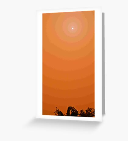 Red Dust Storm  Sun In Sight ,Brisbane-redcliffe Se qld  Greeting Card