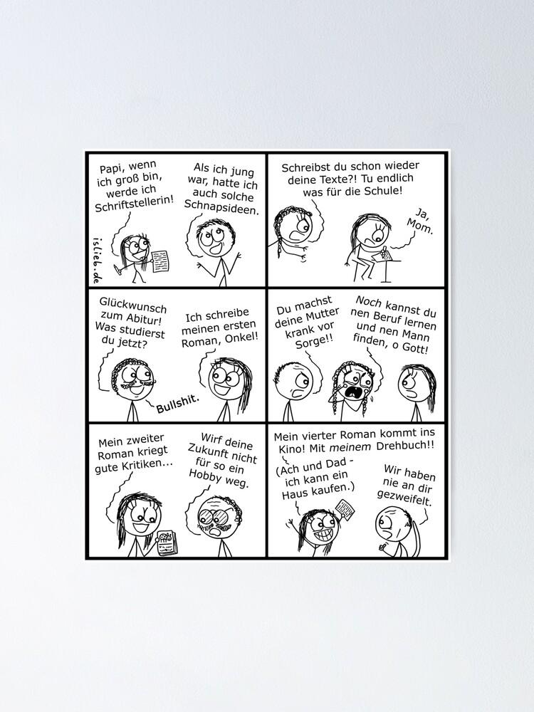 Alternative Ansicht von Schriftstellerin islieb Comic Poster