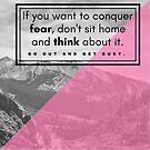 Mountain Quotation (Dale Carnegie) by Rachel Jeffrey