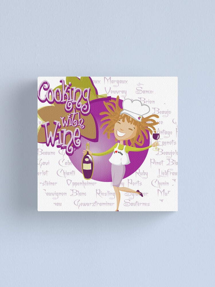 Alternate view of Cooking with wine Canvas Print