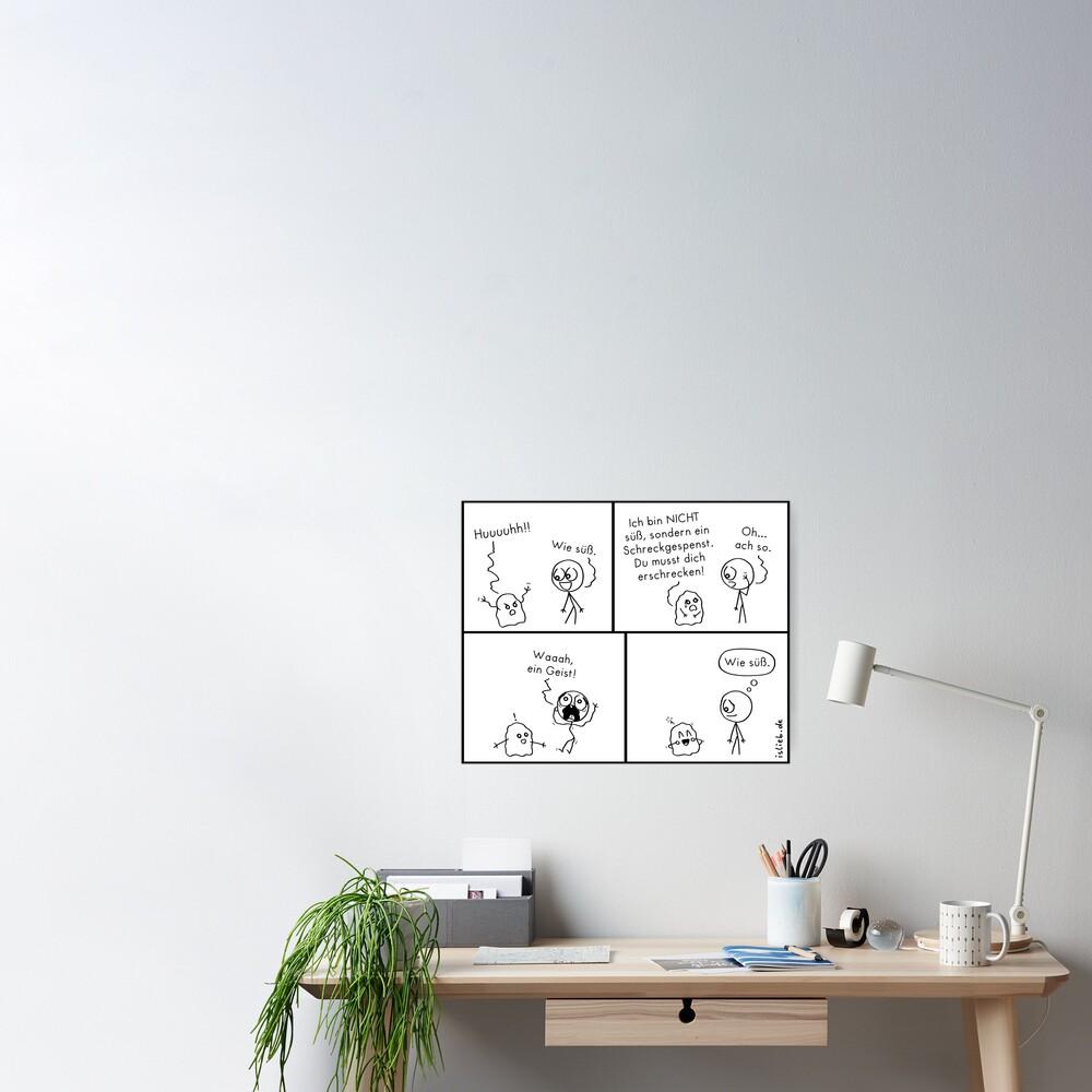 Erschrecken islieb Comic Poster