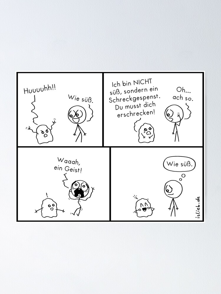 Alternative Ansicht von Erschrecken islieb Comic Poster