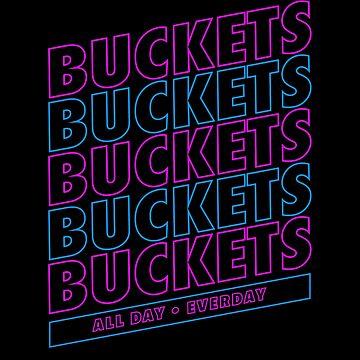 Buckets on Buckets on Buckets Basketball T-Shirt by JNicheMerch2018