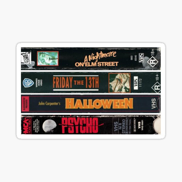 Classic Horror Movies Sticker