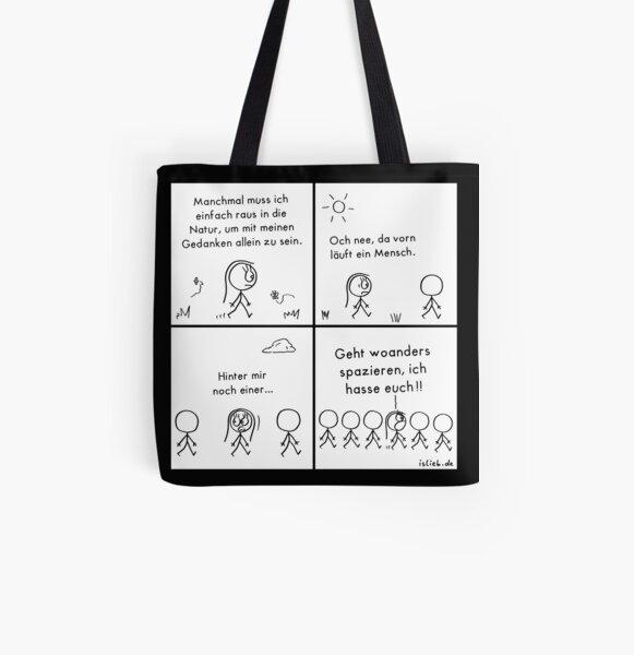 Natur islieb Comic Allover-Print Tote Bag