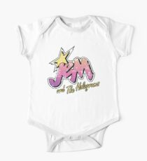 Jem and the Holograms Pastel Logo Distressed Faded 80s 1980s cartoons Misfits One Piece - Short Sleeve
