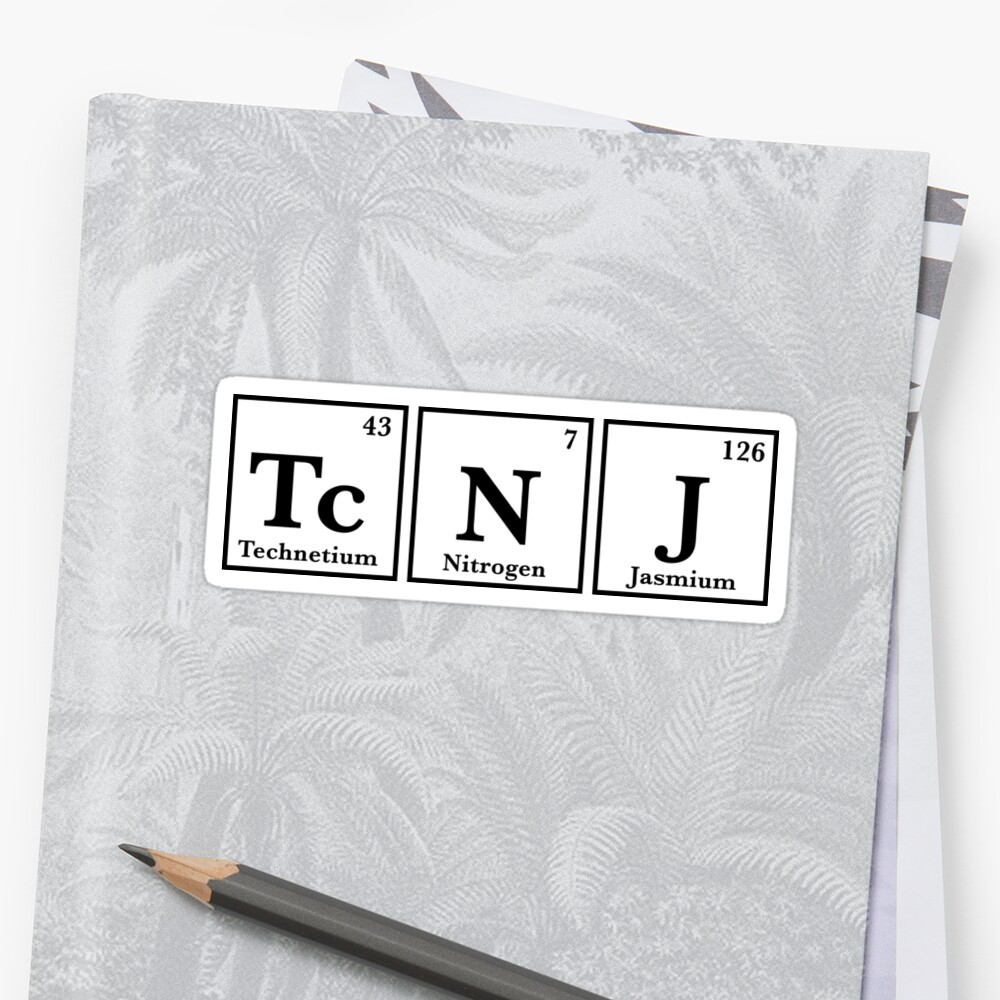 TCNJ Periodic Table sticker  Sticker