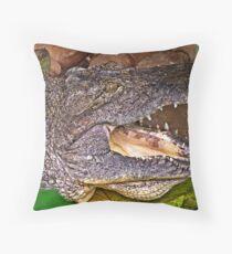 """Nile Crocodile"" Throw Pillow"