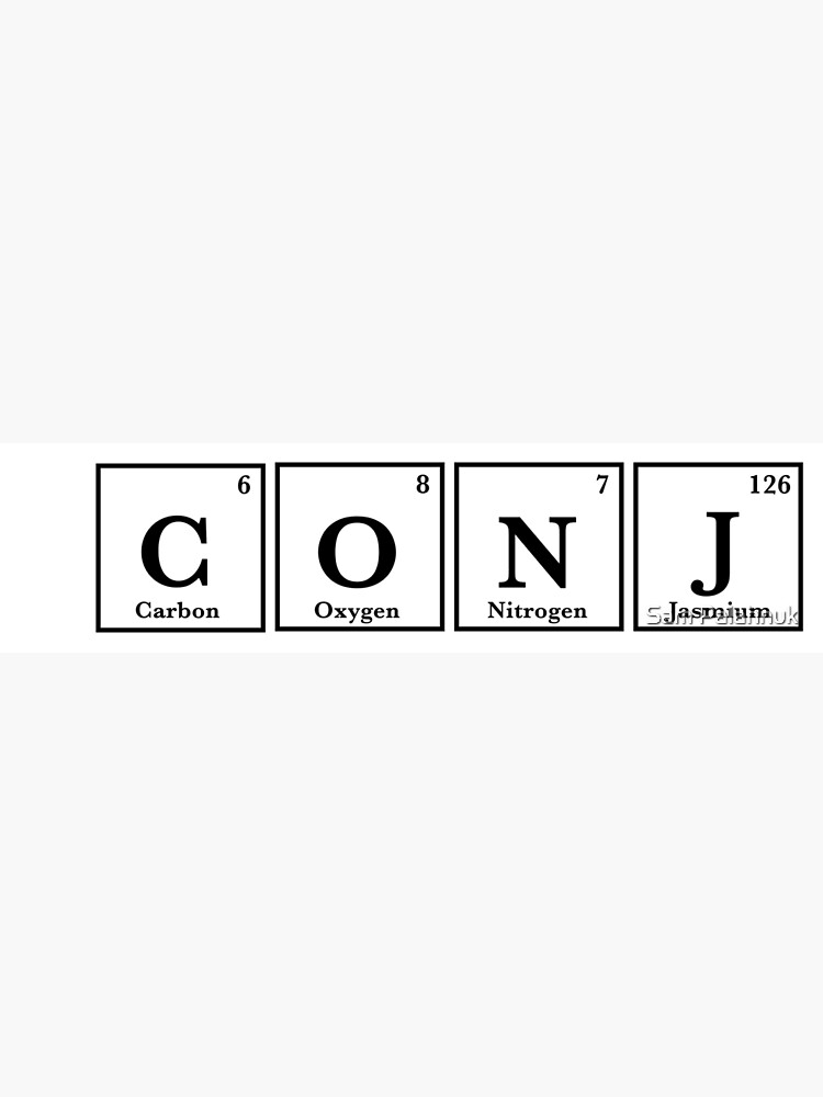 CONJ periodic table sticker  by sampalahnukart