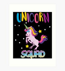 Unicorn Squad Birthday  Art Print