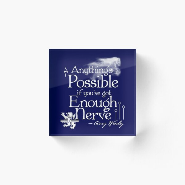 Anything's Possible If You've Got Enough Nerve Acrylic Block