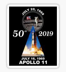 Apollo 11 50th Anniversary Moon Landing Sticker