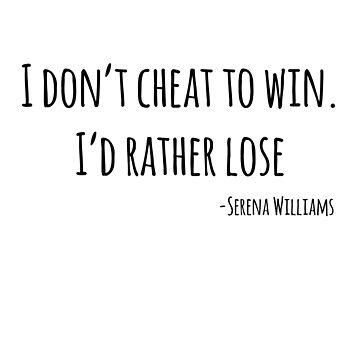I don't cheat to win by Kielan