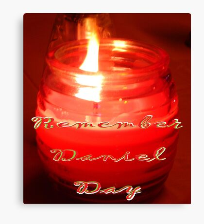 A Candle for Daniel Canvas Print