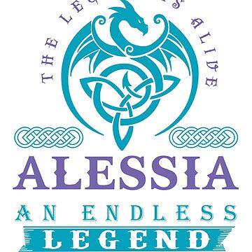 Legend T-shirt - Legend Shirt - Legend Tee - ALESSIA An Endless Legend by wantneedlove