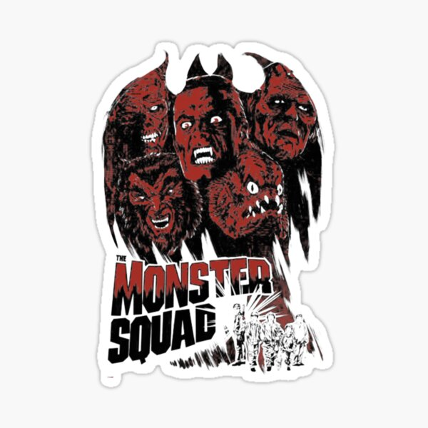 Escuadrón de monstruos - Horror T-shirt Pegatina