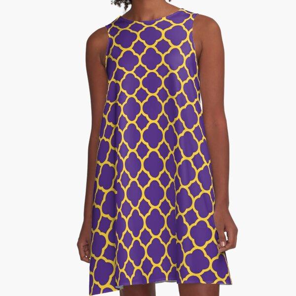 Quatrefoil Bayou Bengala Gameday Dress 1 Vestido acampanado