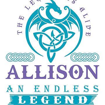 Legend T-shirt - Legend Shirt - Legend Tee - ALLISON An Endless Legend by wantneedlove