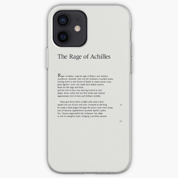 The Iliad Homer Page One iPhone Soft Case