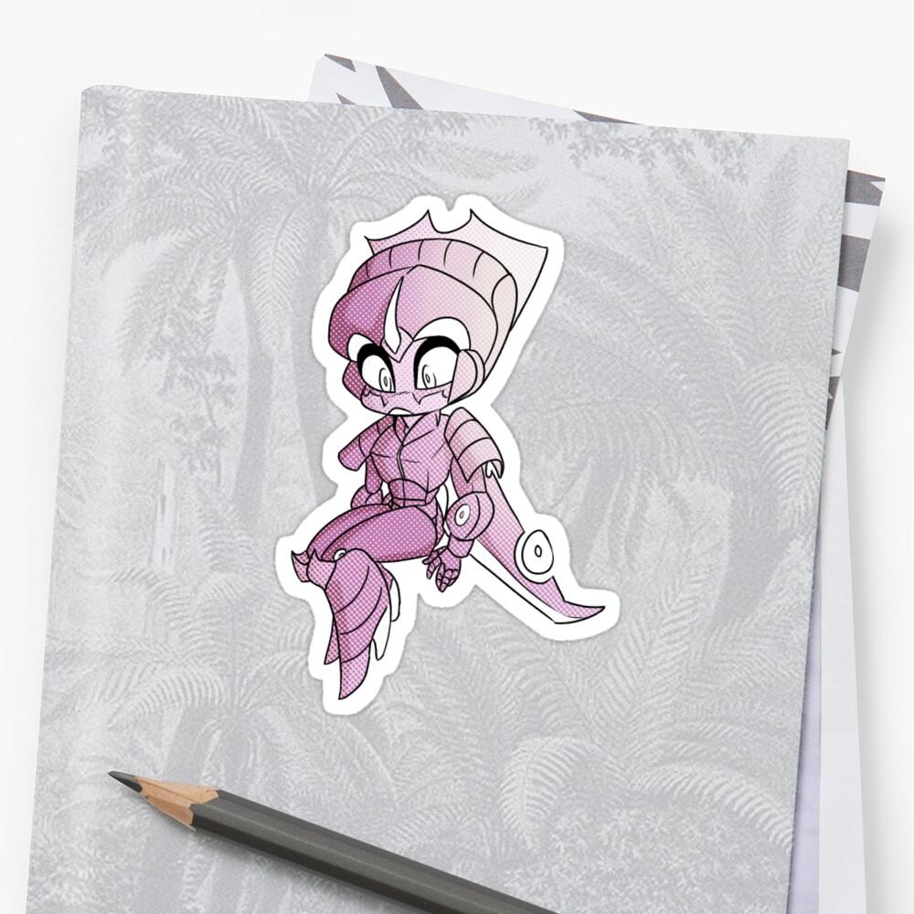 pink chibiblade by owldart