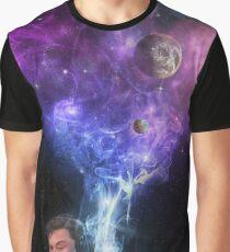 Elon Musk Smoking the Universe Graphic T-Shirt