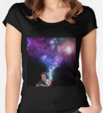 Elon Musk Smoking the Universe Women's Fitted Scoop T-Shirt