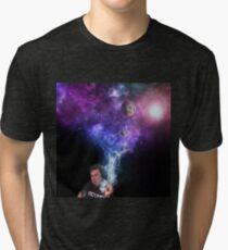 Elon Musk Smoking the Universe Tri-blend T-Shirt