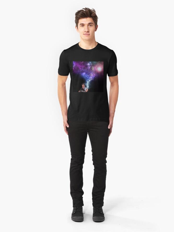 Alternate view of Elon Musk Smoking the Universe Slim Fit T-Shirt