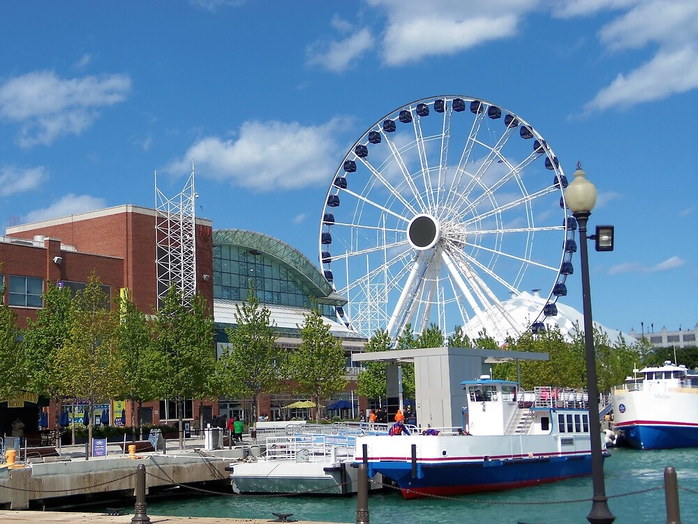 Navy Pier Chicago Graphic by ris1