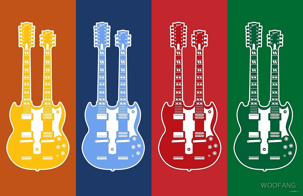 GUITAR SILHOUETTES - GIBSON EDS-1275 by WOOFANG