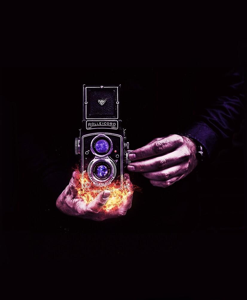 fiery camera by ImaginativeGem